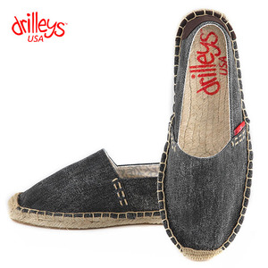 D4 Wash Black Espadrille
